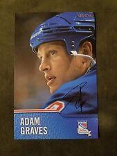 Adam Graves Signed New York Rangers Alumni Oversized Card Perfect for Framing