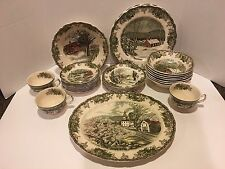 Johnson Brothers The Friendly Village Vintage lot Lot of 30 Pieces