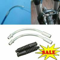 1set MTB Road Bicycle V Brake Rubber Sleeve Cover Boots Brake Guide Elbow Q4G2