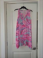 LILLY PULITZER Pink Havana Swing Dress Magenta Oh My Guava Womens M Sleeveless