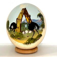 Hand Painted Ostrich Egg 1985