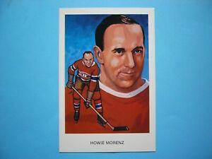 1983 1983/84 CARTOPHILIUM NHL HOCKEY HALL OF FAME POSTCARD H12 HOWIE MORENZ NICE