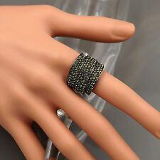 Alloy Black Crystal Rhinestone Adjustable Fashion Custom ring 00242 New