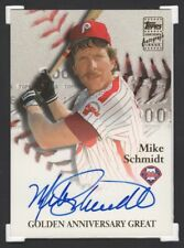 2000 2001 TOPPS GOLDEN ANNIVERSARY GREAT SIGNATURE MIKE SCHMIDT AUTO (2312)