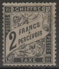 """FRANCE STAMP TIMBRE TAXE N° 23 """" TYPE DUVAL 2F NOIR """" NEUF x A VOIR  RARE  K983"""