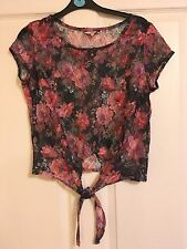 New Look Size 10 Chiffon Lacey Flowery Top. Absolutely Gorgeous