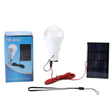 Portable 15W Rechargeable Solar Powered Emergency LED Bulb Lamp Camping Light