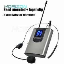 With headset + collar clip wireless microphone computer coach collar