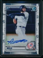 Austin Wells Auto 1st 2020 Bowman Chrome Draft Autograph Yankees Rookie Card Rc