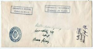 1940´s ARGENTINA GERMANY GRAF SPEE SHIP PRISONER OF WAR COVER, RARITY