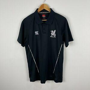 Canterbury Mens Polo Shirt Size Large Slim Black Short Sleeve Collared 62.14