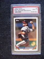 1993 Topps card #8 Mark Wohlers Atlanta Braves PSA 9 Colorado Rockies logo IBM