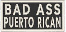 BAD ASS PUERTO RICAN Iron-On Patch MC Boricua Biker Emblem