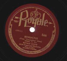 Royale Choir on 78 rpm Royale 566: Coronation Mass-Benedictus (Mozart)