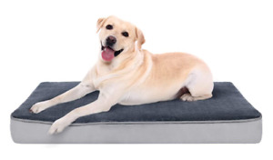 Memory Foam Dog Bed Large(L, 89 x 56 x7.6cm) for Pets Up To 34 KG- Orthopedic