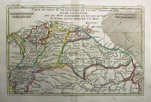 1781 Bonne Map of Colombia & Venezuela - Fictitious Lake