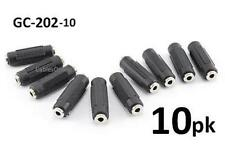10-PACK 3.5mm Stereo Barrel Connector Female/Female Coupler Gender Changer