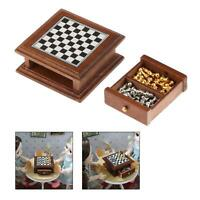 1:12 Scale Dollhouse Miniature Chess Set Board Toys Chess Game Kids Toy