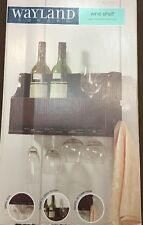 Wayland Wall Mounted Wine Shelf Bottle Glass Hanging Shelf Display Floating NEW