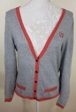 Proenza Schouler pour Target femme gris rouge Cashmere Cardigan Taille L 14 10
