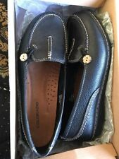 Flat (0 to 1/2 in.) Leather Slip On Heels for Women