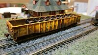 Athearn HO Illinois  terminal weathered Gondola 50' freight car wheel load itc