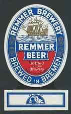 Remmer Brewery Beer, bremen cervecería etiqueta (hb-062)