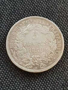 France 5 Francs Argent Cérès 1850 BB TTB+