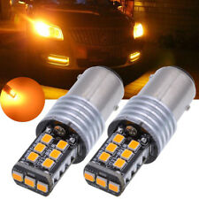 Yellow 1157 BAY15D 15SMD 2835 LED Car Light Canbus Error Free Non-polar Bulb 12V