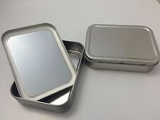 5  x Silver Tobacco 2oz Tin with Seal - ,Camping, Sewing, Survival, cigarettes