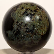 60mm Rare Agate Crystal Sphere Black Green Natural Mineral Stone Ball - India