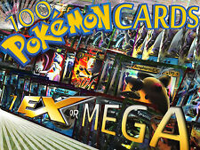 Pokemon TCG 100 Card Lot GX / EX or MEGA EX ULTRA HYPER RARE FULL ART HOLO Cards