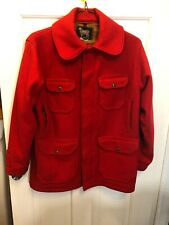 15. Woolrich Woolen Mill Mackinaw Wool Hunting Coat Jacket shirt M Red Men VTG