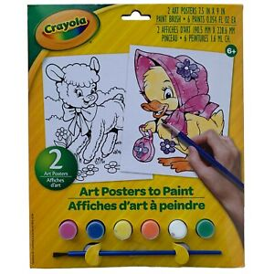 Crayola Art Posters to Paint Lamb & Duck 2 Posters Kids Spring Art Craft Kit