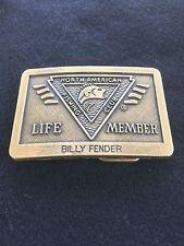 North American Fishing Club Life Member Billy Fender Belt Buckle
