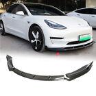 Fit for Tesla Model 3 Sedan 16-21 Carbon Fiber Front Bumper Lip Spoiler Splitter