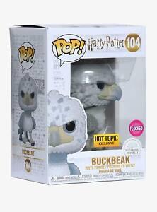 Funko Pop Harry Potter BUCKBEAK FLOCKED #104 Hot Topic Excl PREORDER in APRIL
