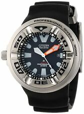 New Citizen Professional Diver's Eco-Drive Men's Rubber Strap Watch Bj8050-08E