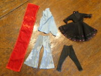 VINTAGE BARBIE SIZED HOMEMADE/CLONE CLOTHES LOT OUTFITS
