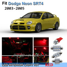 For 2003-2005 Dodge Neon SRT4 Premium Red LED Interior Lights Kit 7 Pieces