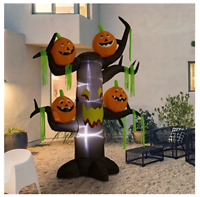 Outdoor Haunted Tree with Jack-O-Lantern Pumpkins Halloween Self-Inflatable