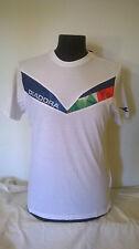 T-shirt uomo DIADORA  in cotone colore bianco con inserti colorati molto bella