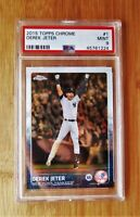 2015 Topps Chrome #1 DEREK JETER - PSA 9 MINT