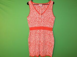 Romeo & Juliet Couture Womens Size L Large Tigerlily / White Geometric Dress NEW