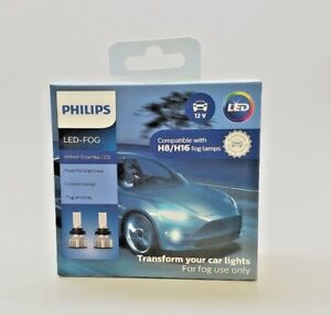 H8 H16 Philips Up to 6500K Ultinon Essential LED FOG Bulbs 11362UE2X2 Pack of 2