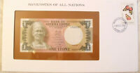 Banknotes of all Nations Sierra Leone 1 Leone 1981 P5d UNC A/21