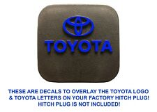 Blue Vinyl Decal Overlays For Factory OEM Toyota Hitch Plug New Free Shipping
