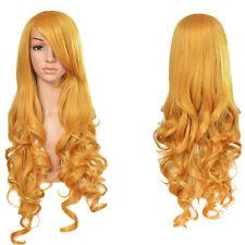 Women Fashion 80cm Long Curly Wavy Hair Fashion anime Cosplay Party Full Wig