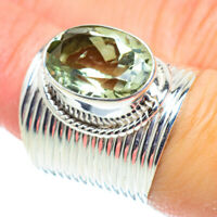Large Green Amethyst 925 Sterling Silver Ring Size 7 Ana Co Jewelry R52167F