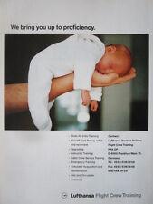 9/1992 PUB LUFTHANSA GERMAN AIRLINES FLIGHT CREW TRAINING BEBE BABY ORIGINAL AD
